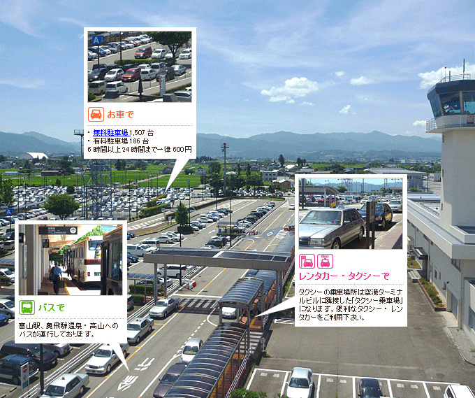 富山空港乗り場ガイド