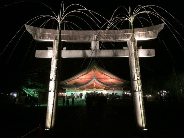 富山縣護国神社の初詣の様子