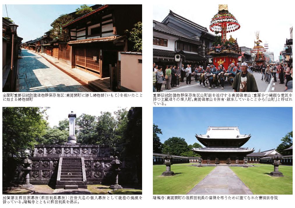 日本遺産の高岡市