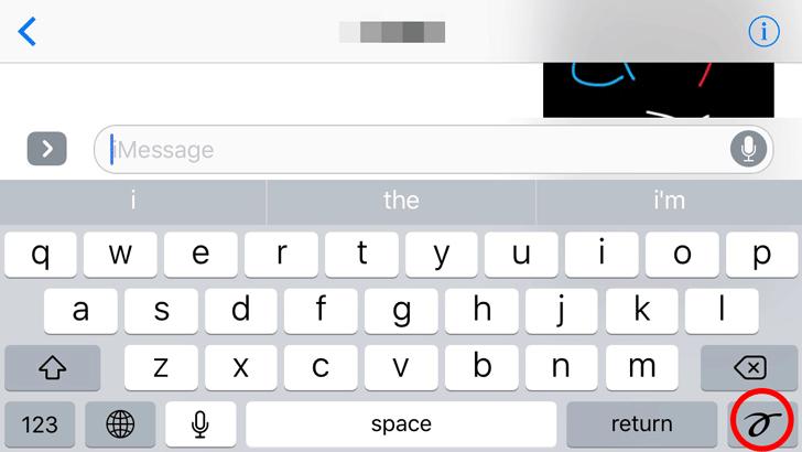 imessage手書きボード切替
