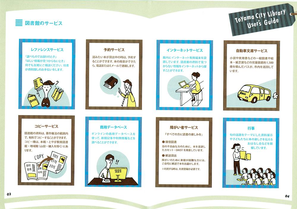 富山市立図書館のサービス