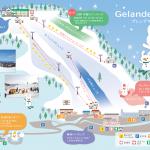 牛岳スキー場の地図