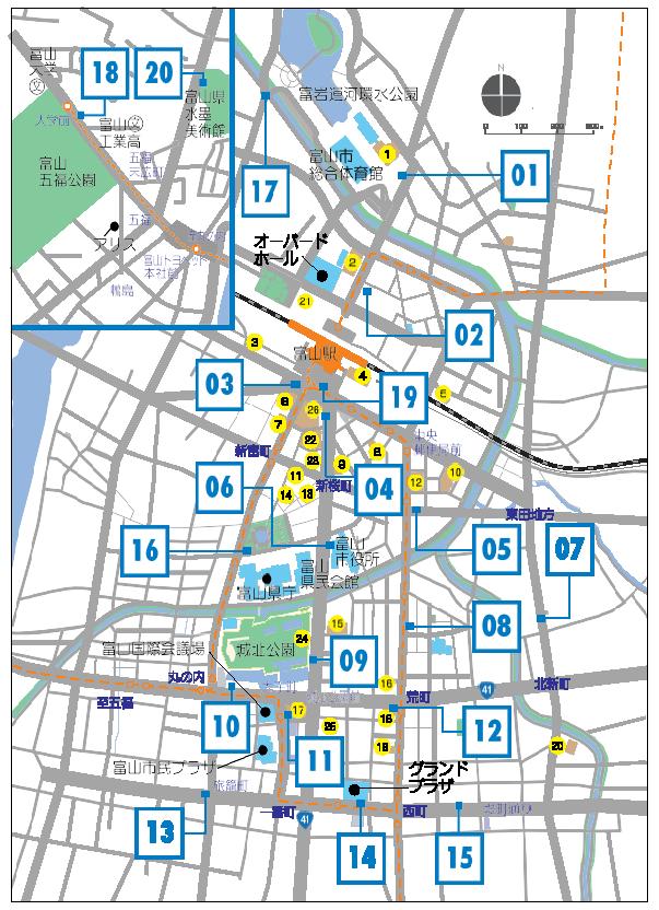 シクロシティ、ステーションマップ