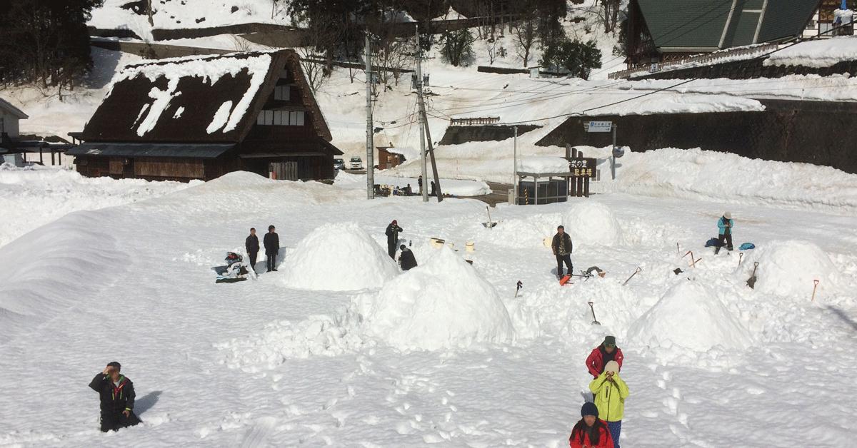 大人の雪遊び
