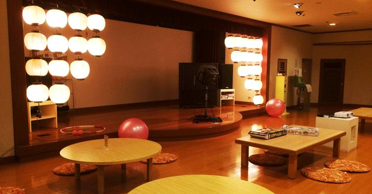 宇奈月杉乃井ホテルの休憩所
