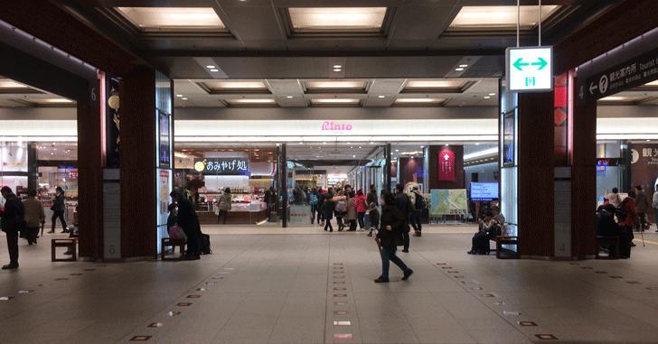 金沢駅改札を出た時のファーストビュー