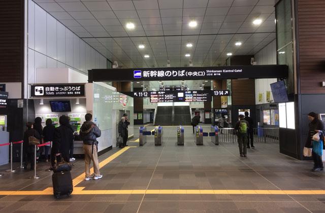 JR富山駅の北陸新幹線の改札
