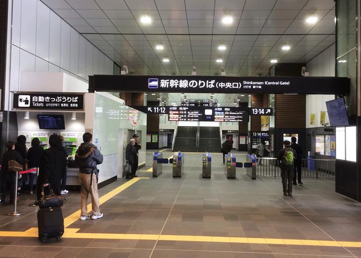 北陸新幹線、富山駅の改札