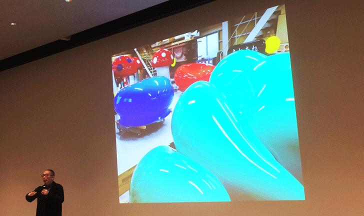 オノマトペの屋上の遊具「ぼこぼこ」の制作過程
