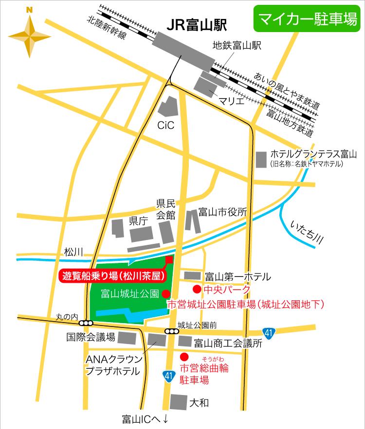 松川付近の無料駐車場