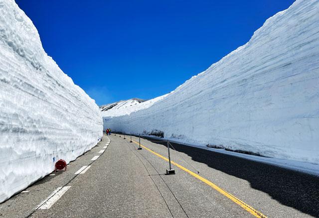 立山黒部アルペンルート「雪の大谷」メモリアルウォークの帰り道