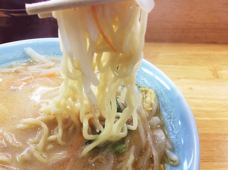魚津、山久ラーメンの麺