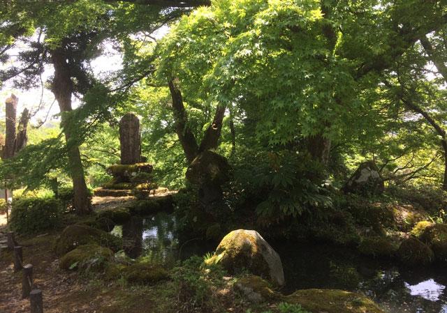 越中八尾の城ヶ山公園の雰囲気のある景色