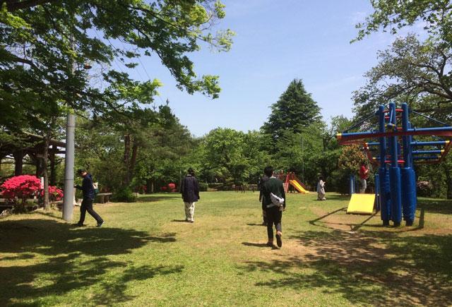 越中八尾の城ヶ山の公園