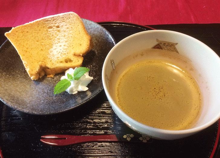 自家製ふんわりシフォンケーキ+お好きなドリンク