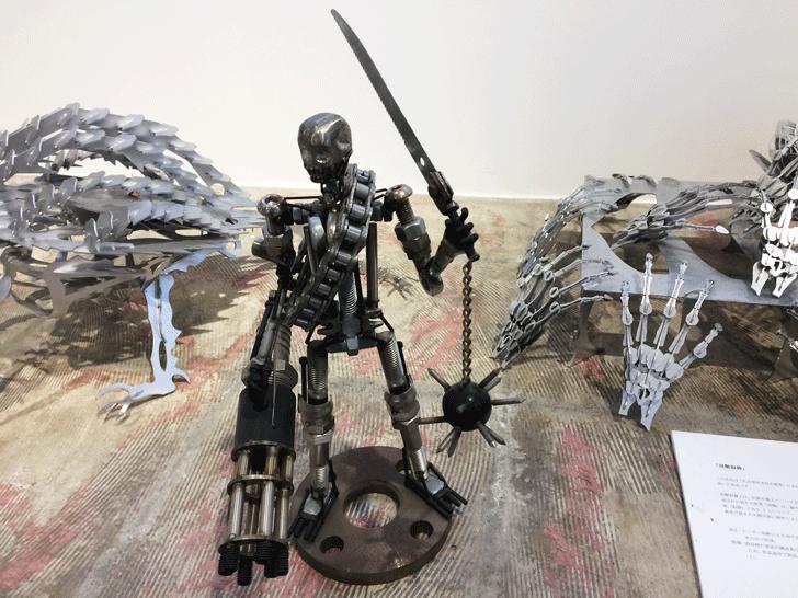 メタルアートのファクトリー アートミュージアム トヤマの展示品3