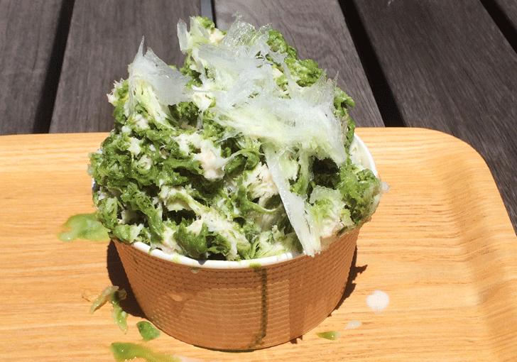 「天然氷ハナ」城川原のオシャレ過ぎるカキ氷屋の抹茶ミルクぜんざい