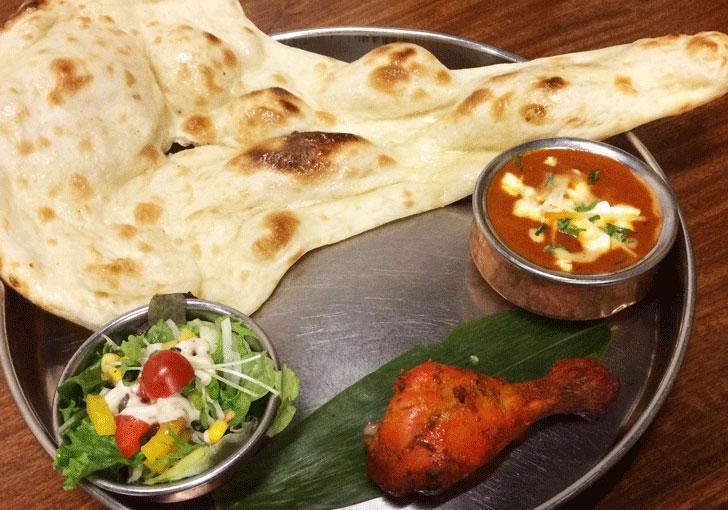 富山駅前インド料理「サントシ」のレディースセット