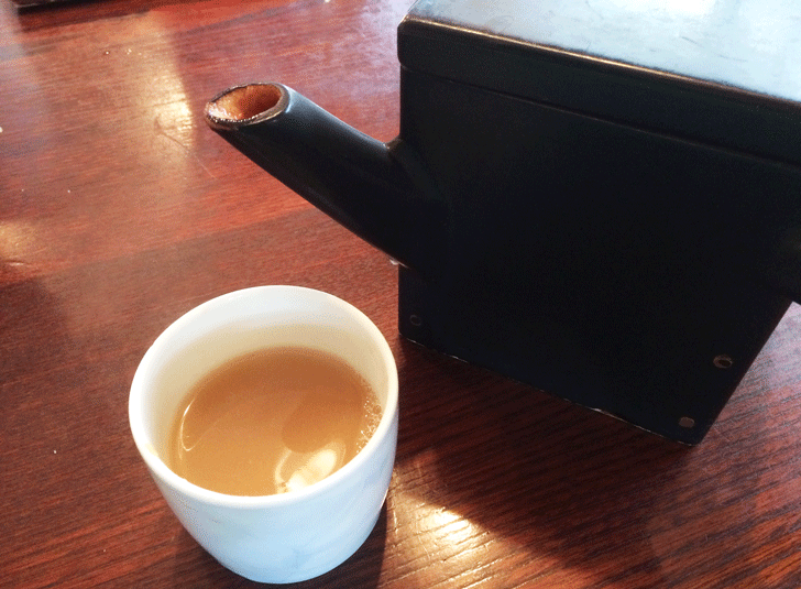 手打ちそば富山達磨の蕎麦湯