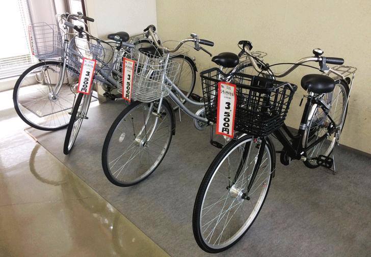 リサイクルプラザ富山の格安自転車