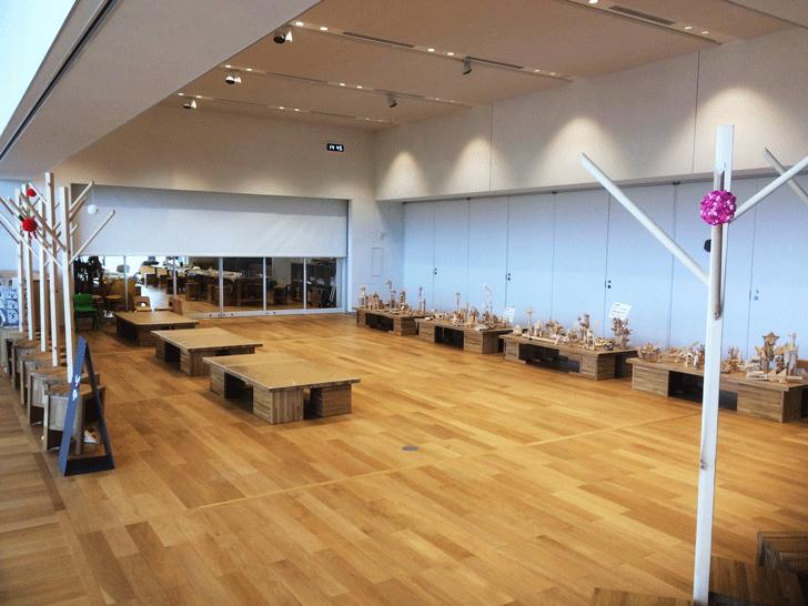 富山県美術館3Fのアトリエ