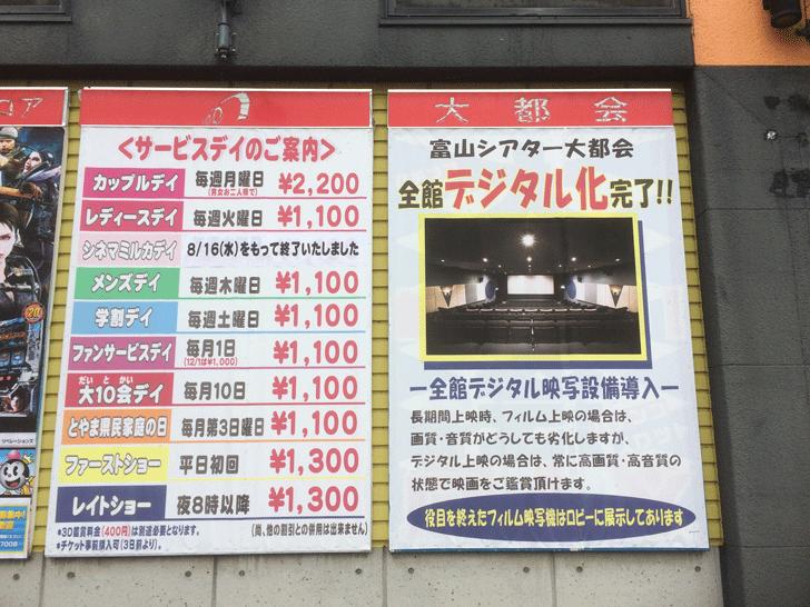 映画館富山シアター大都会のデジタル化