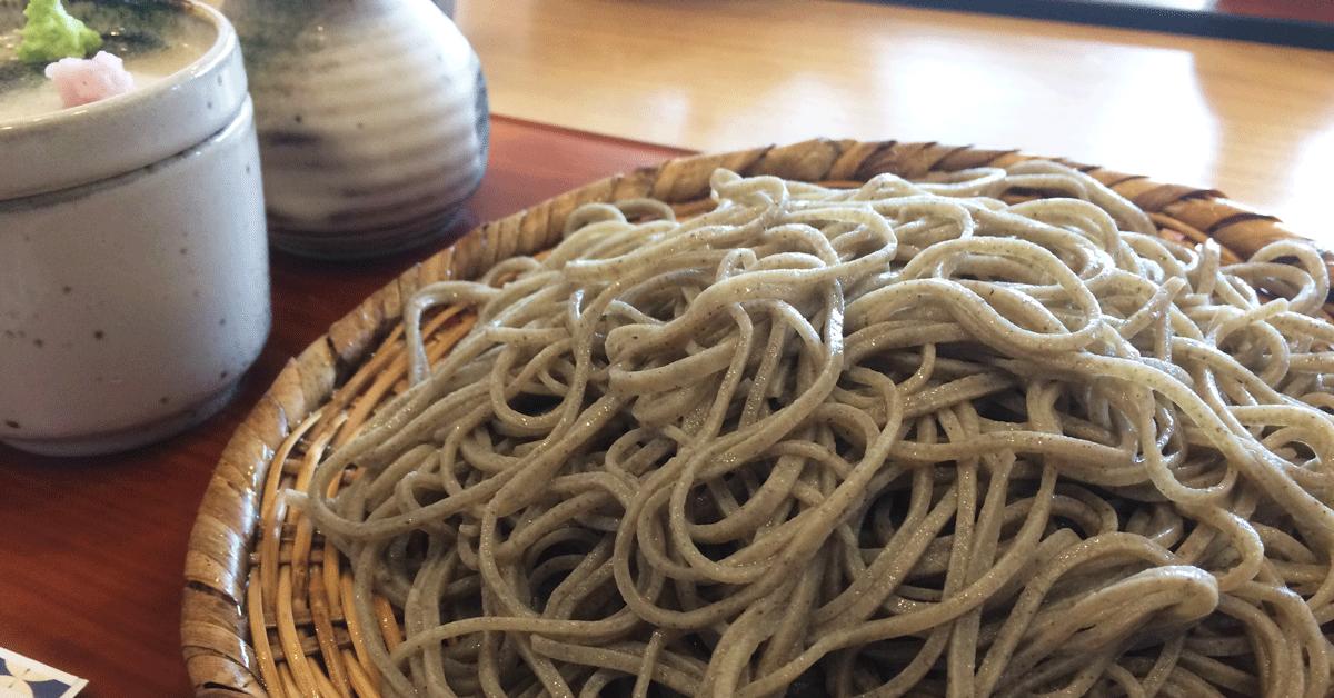 富山市古沢の「そば処 樹樹」の天ぷらそば
