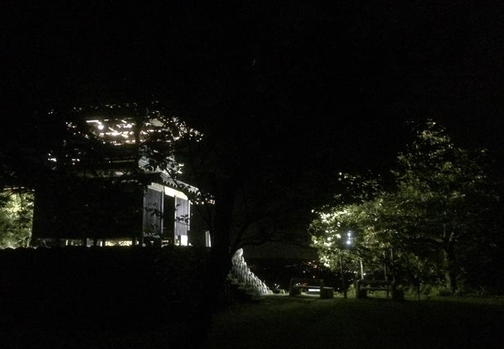 越中八尾おわら風の盆、城ヶ山展望台の様子