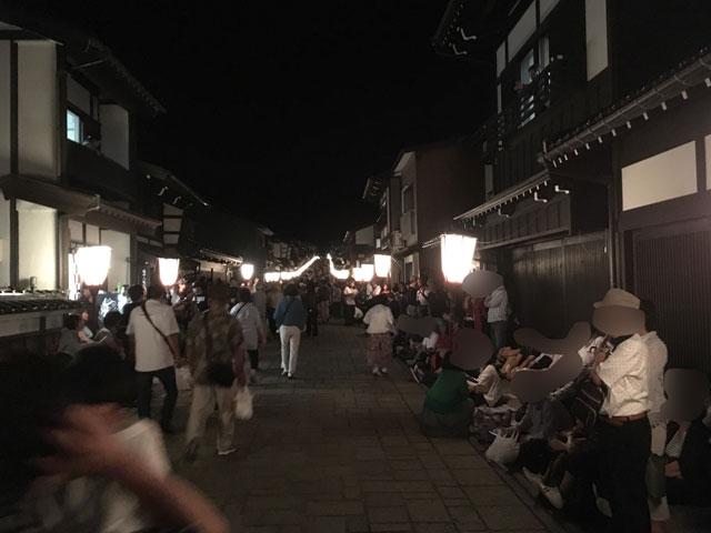 おわら風の盆、上新町、日本の道百選通り