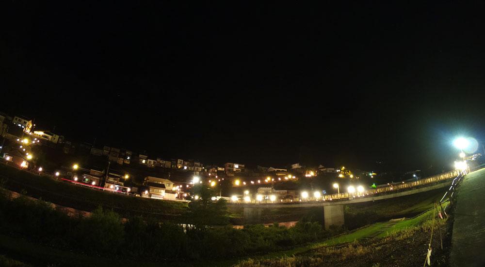 おわら風の盆、坂の町越中八尾の夜景