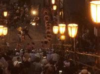 越中おわら風の盆の鏡町の踊り