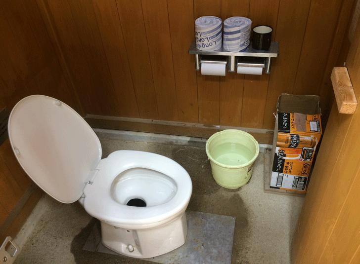 富山県の百名山薬師岳太郎兵衛平のトイレ