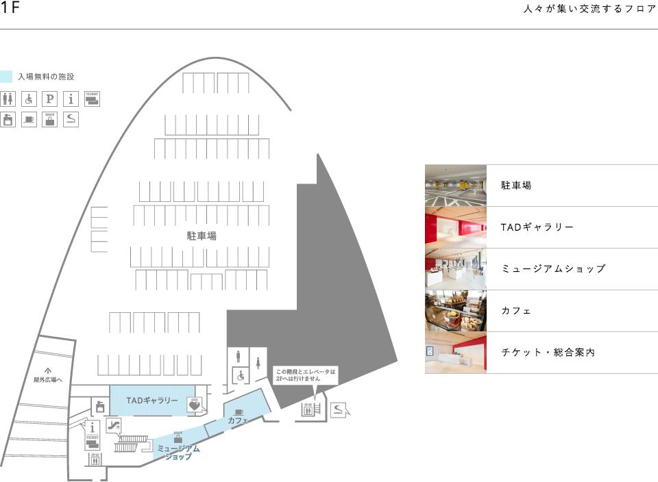富山県美術館の館内マップF1