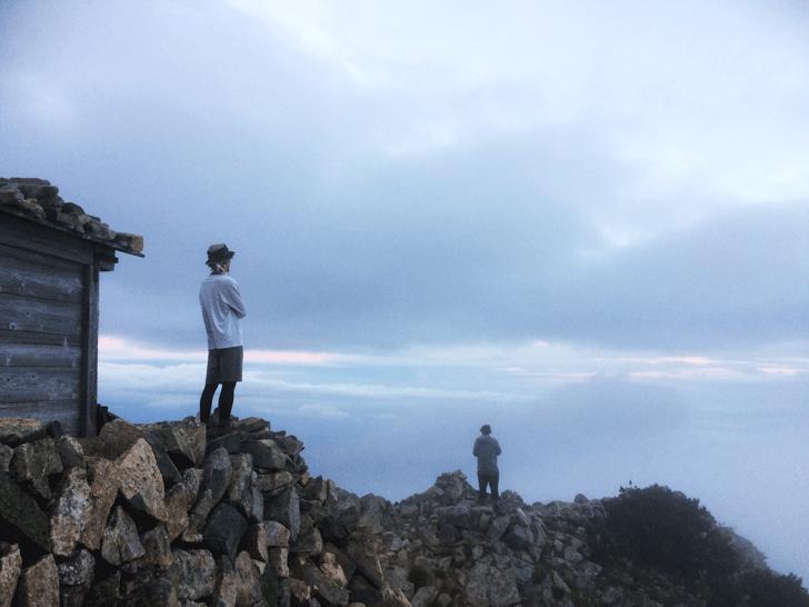 富山県の百名山薬師岳山頂からの景色2