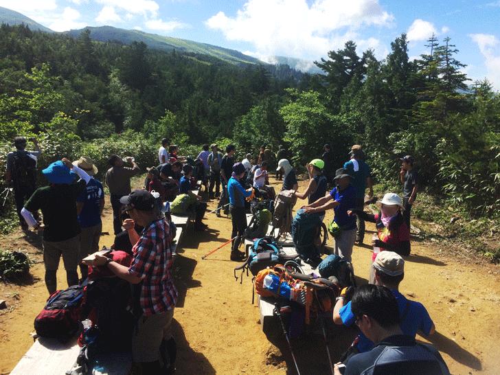 富山県の百名山薬師岳の三角点