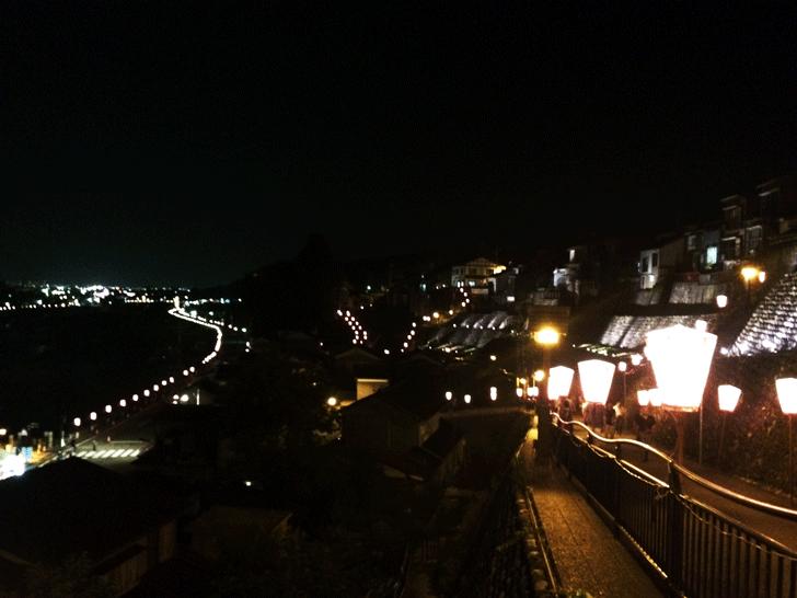 越中八尾、西町の展望台からの夜景