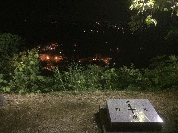 越中八尾おわら風の盆、城ヶ山公園展望台の麓からの景色