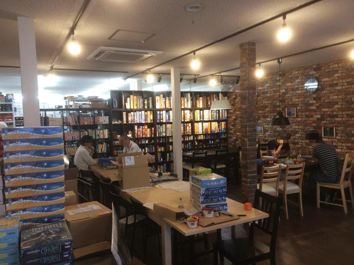 ボードゲーム専門店「エンゲームズ」の店内の様子