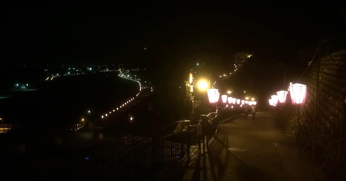 深夜の越中八尾おわら風の盆の風景