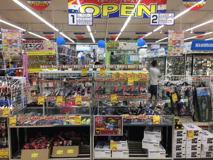 リニューアルオープンした上州屋富山空港通り店の店内
