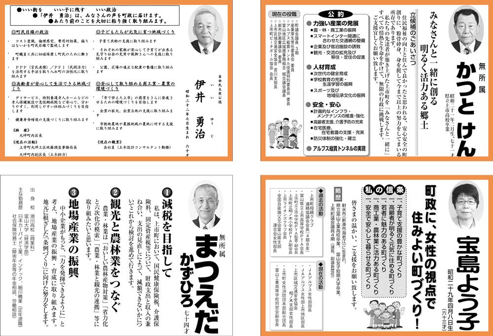 上市町議会議員選挙2017選挙公報と結果2