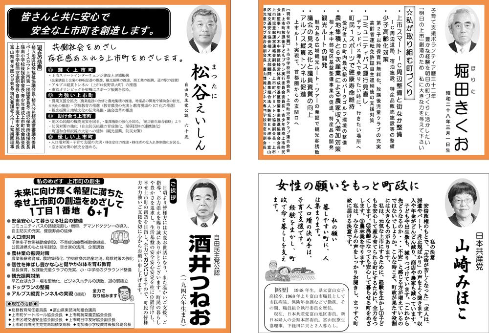 上市町議会議員選挙2017選挙公報と結果3