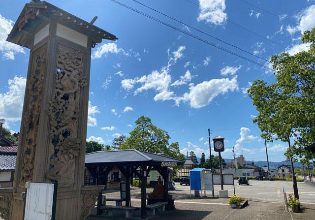 富山県南砺市の井波交通広場駐車場