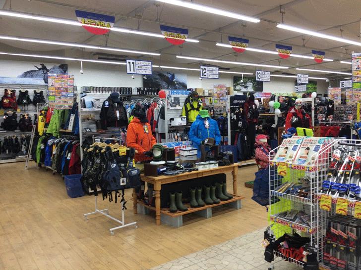 リニューアルオープンした上州屋富山空港通り店の店内2