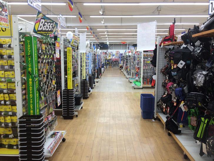 リニューアルオープンした上州屋富山空港通り店の店内3