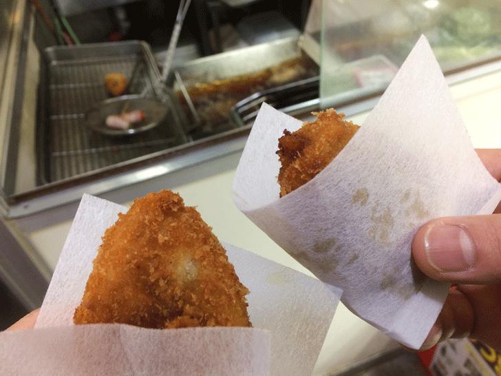 「肉の神戸屋 神明店」の涙コロッケ