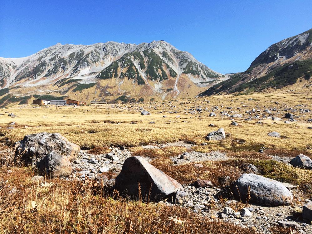 富山県の観光スポット立山連峰室堂平の絶景