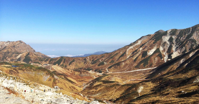富山県の観光スポット立山連峰の絶景