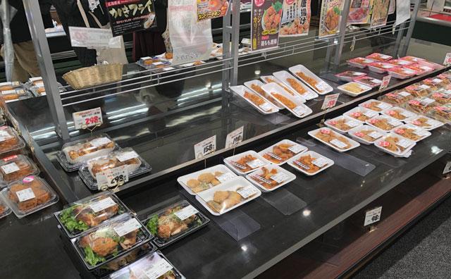 JR富山駅すぐにあるエスタ電鉄富山駅のスーパーマーケット「アルビス エスタ店」の惣菜など