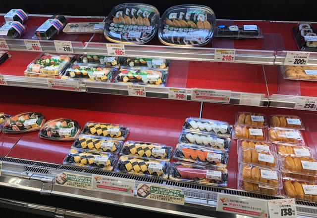 JR富山駅すぐにあるエスタ電鉄富山駅のスーパーマーケット「アルビス エスタ店」の寿司など